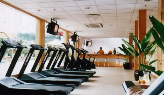 hotel gym Running in the Kuala Lumpur City Center Park