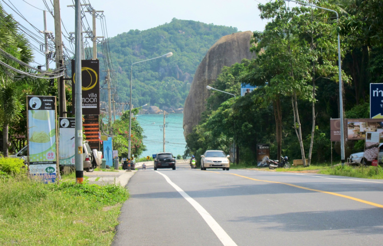 Out running on the Ring Road on Koh Samui