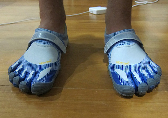 vff Almost barefoot in new running shoes